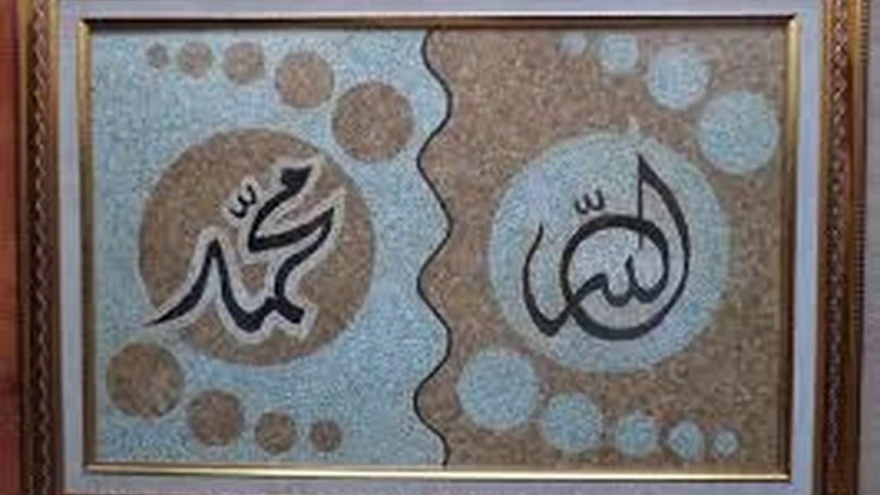 Karya Seni Kaligrafi Terbuat Dari Kulit Telur Youtube