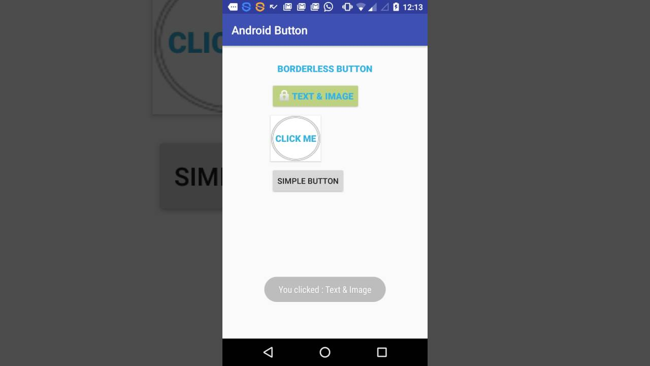 Android button - Customization & Usage
