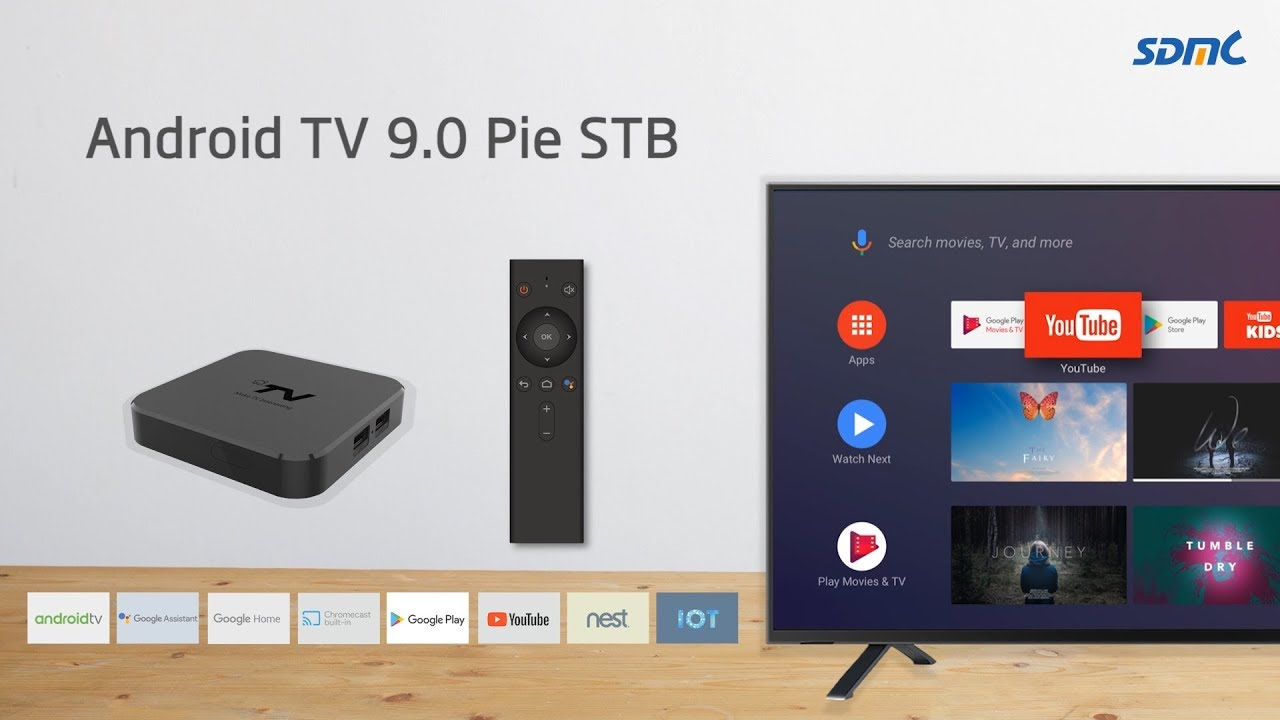 SDMC 4K Android TV STB Running Android 9 0 Pie