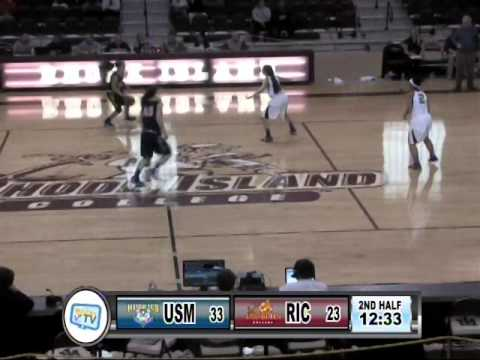 RIC Anchorwomen Basketball vs University of Southern Maine 2-14-15