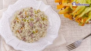 Beer Risotto With Mortadella And Zucchini Flowers - Recipe