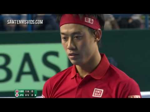 Andy Murray Vs Kei Nishikori Davis Cup 2016 R1 Highlights