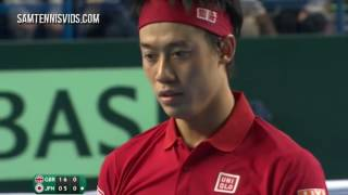 Andy Murray Vs Kei Nishikori Davis Cup 2016 R1 Highlights