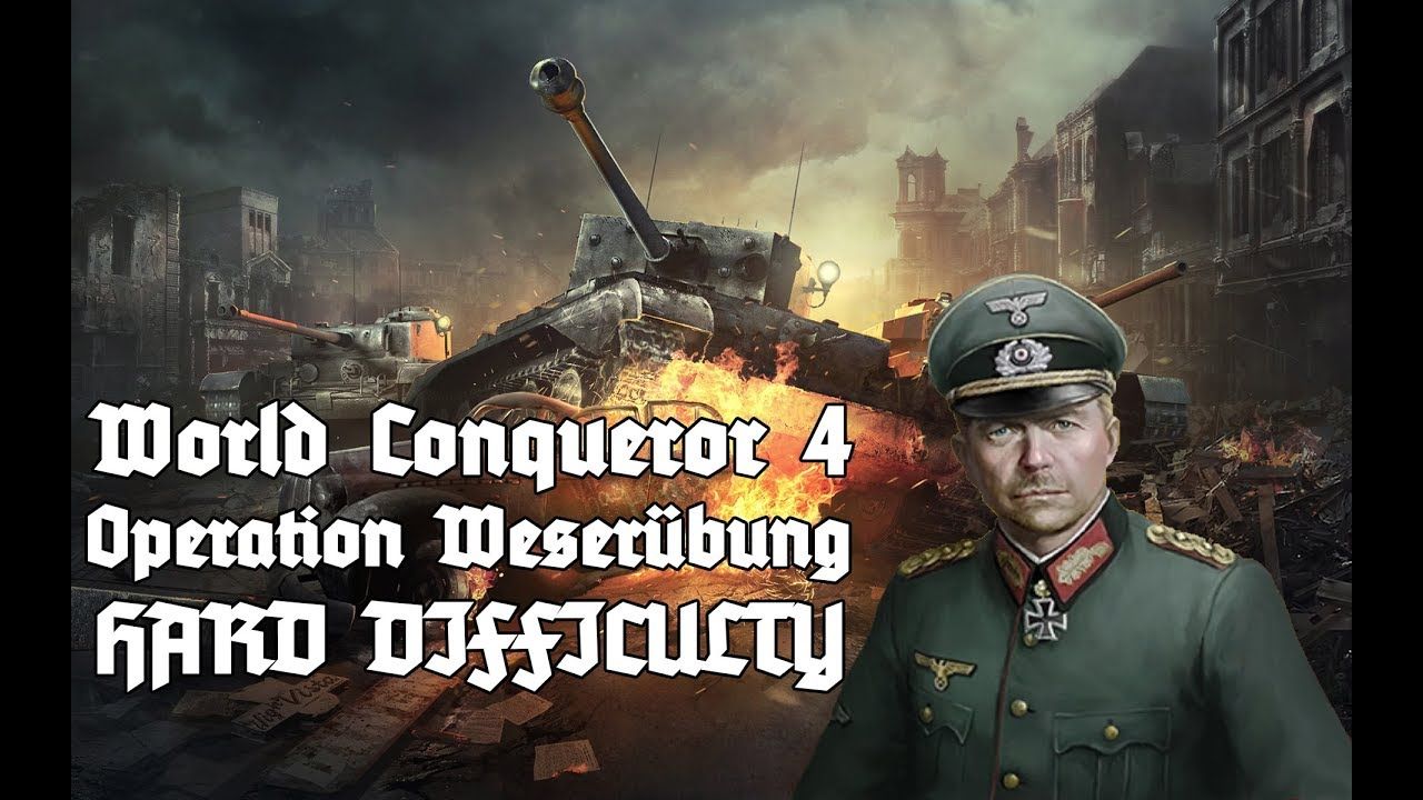 [HARD] Operation Weserübung AXIS Mission 2 World Conqueror 4 Gameplay