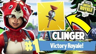 NEW CLINGER!! #1 VICTORY ROYALE COMING SOON | FORTNITE BATTLE ROYALE