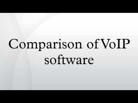 Comparison of VoIP software