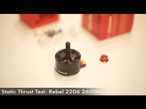 Static Thrust Test Rebel 2206 2600kv