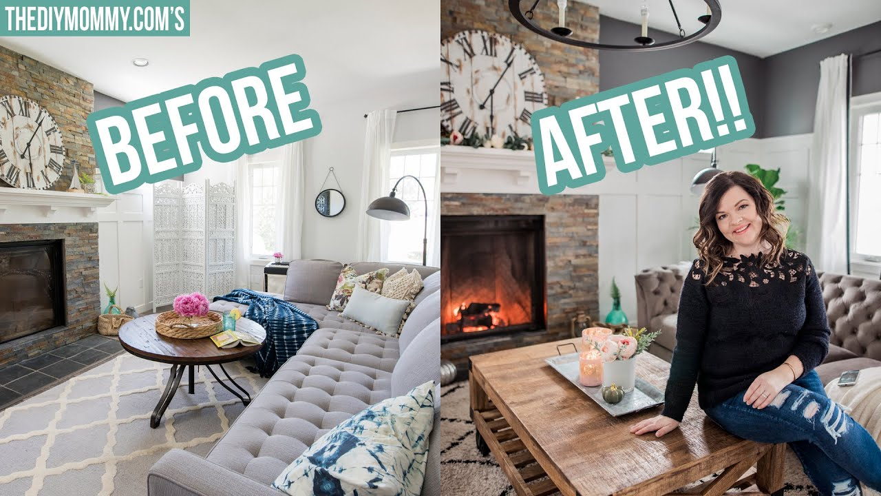 New Cozy Rustic Glam Fall Living Room Makeover Youtube