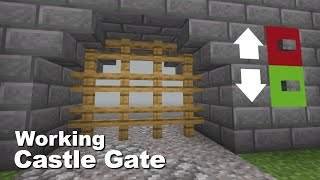 Minecraft: How to mąke a working Castle Gate (easy)