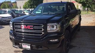 Onyx Black 2018 GMC Sierra 1500 4WD Crew Cab 143.5 SLE Review Oshawa null - Mills Motors Buick GMC