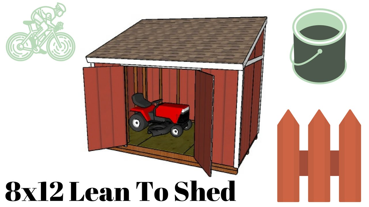8x12 lean to shed plans [ 1280 x 720 Pixel ]