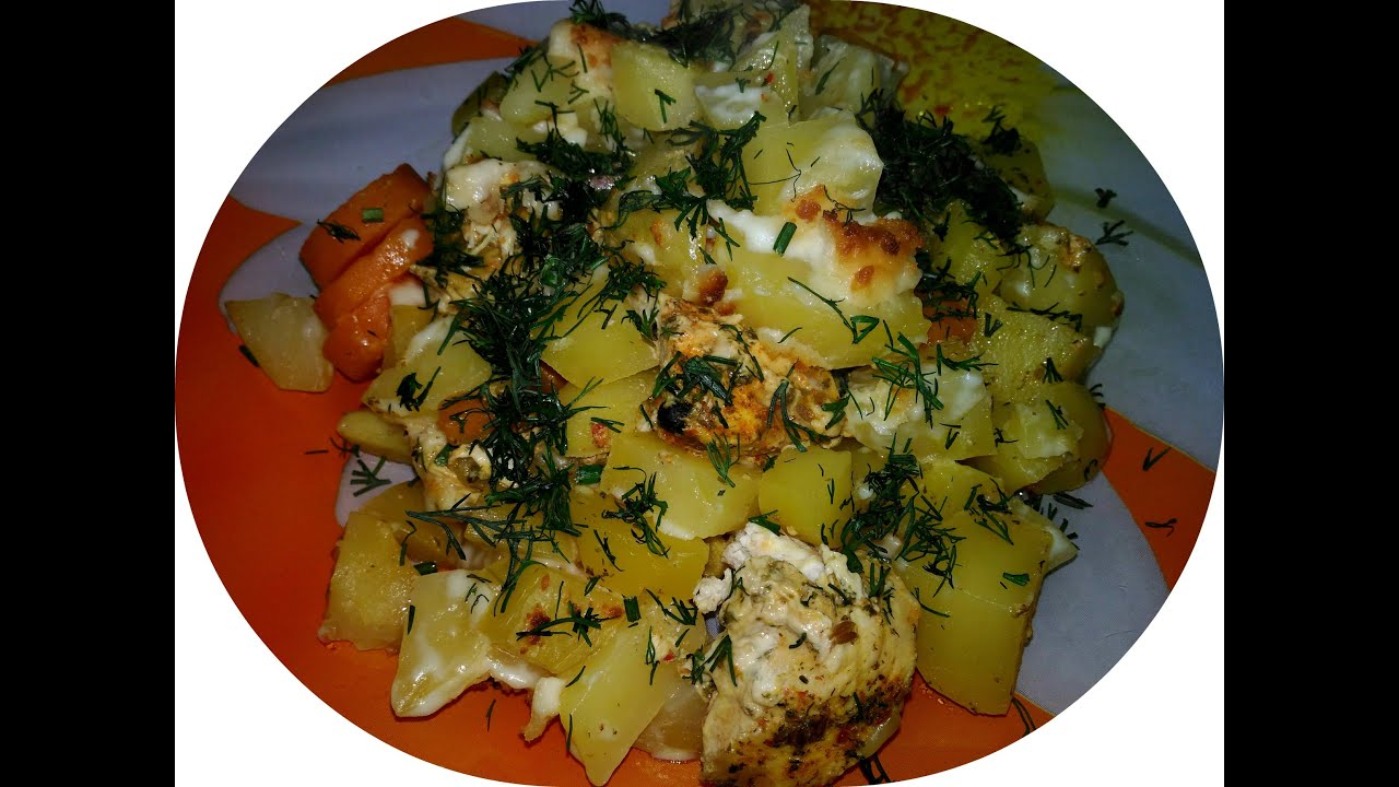 Диетический рецепт мяса с картошкой в духовке