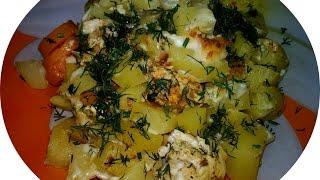 Диетическая картошка с мясом в горшочке.
