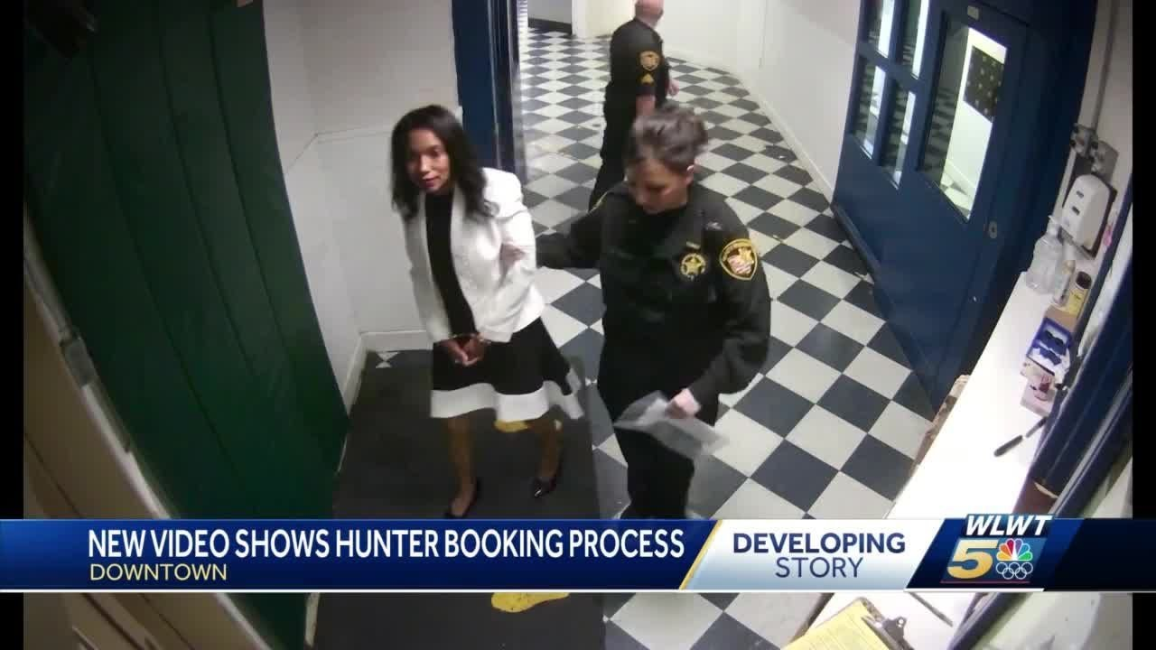 New video shows Tracie Hunter's booking process