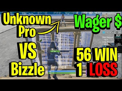 The ONE Time Ghost Bizzle Lost a Solo Wager In 57 Games - *INSANE* 1v1 Creative BuildFight Wager