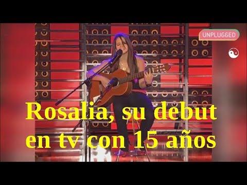 Asi empezó Rosalia | Su debut en Televisión | Sus comienzos artisticos
