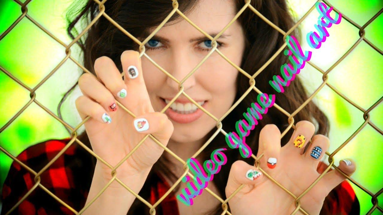 video game nail art