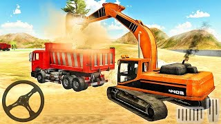 Heavy Excavator Simulator Pro - Excavator Loading Sand Into Dump Truck - Android Gameplay screenshot 4