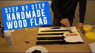 How to: EAT SLEEP RACE wood flags from scratch