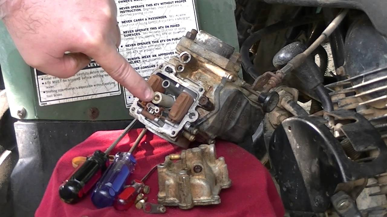 cleaning the carburetor on a yamaha big bear 350  youtube yamaha rhino 660 wiring diagram 2004 yamaha rhino 660 wiring diagram