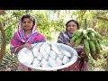 Village Food || Green Banana Peel & Hilsa Fish Mashed || Hilsa Fish and Fresh Green Banana Curry 😉