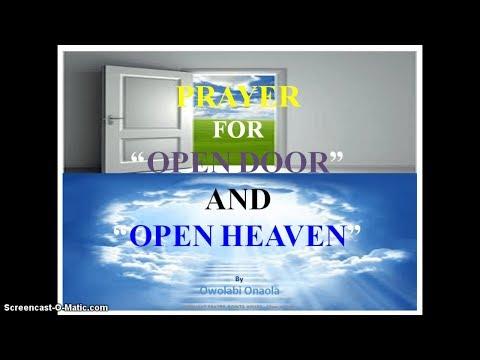 Prayer for Open Door and Open Heaven