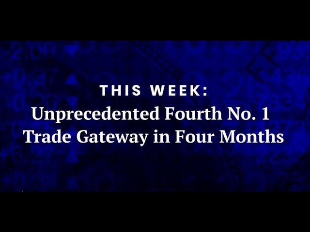 Unprecedented Fourth No. 1 Trade Gateway in Four Months