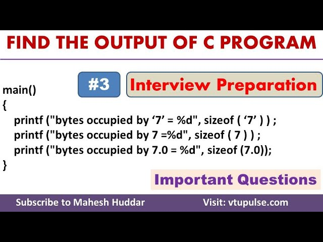 #3 Find the Output, C Programming Question and Answer, Campus Interview Preparation