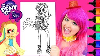Coloring MLP Equestria Girls Applejack Coloring Page Prismacolor Markers | KiMMi THE CLOWN