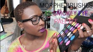 morphe brushes 35 smokey eye palette review