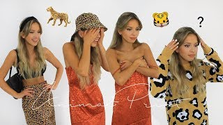 ANIMAL PRINT TRY ON HAUL! TOPSHOP, OASIS, INTHESTYLE, NASTYGAL & MORE | anniemadgett