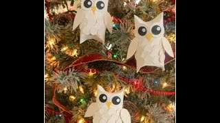 Новогодние совы из бумаги мастер-класс