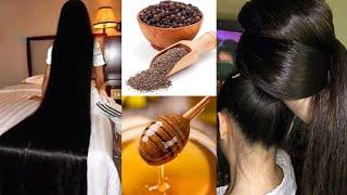 Очень сильная маска для роста и против выпадения волос с черным перцем и медом