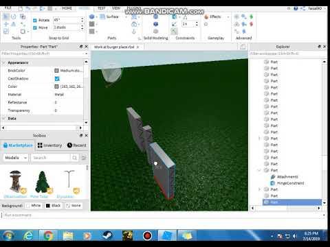 How To Make A Hinge Door Easy Way Roblox Studio Youtube