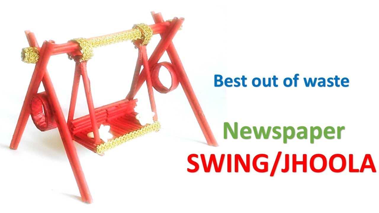 Newspaper Swing Best Out Of Waste Swing For Kanha Ji