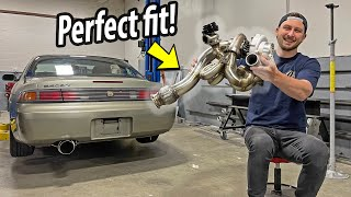 Honda K series 240SX - COMPLETE custom Exhaust!