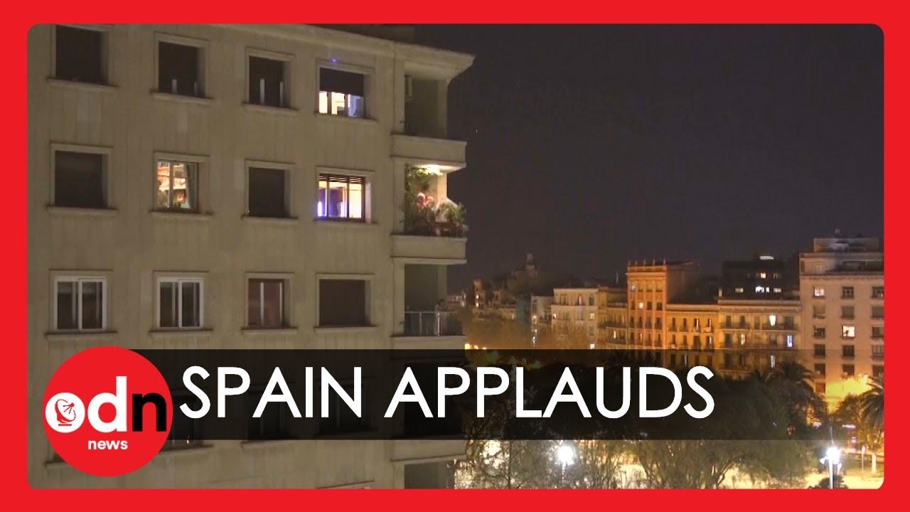 Heartwarming Applause for Spanish Doctors as Coronavirus Lockdown Begins