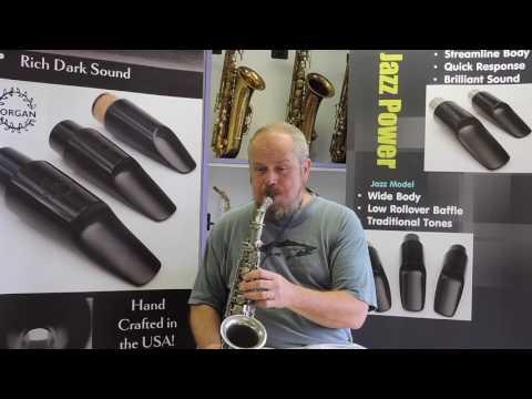 Morgan Jazz Model Large Chamber Alto Saxophone Mouthpiece Demonstration