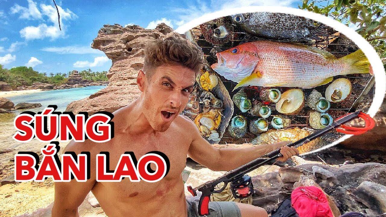 SPEARFISHING VIETNAM'S FAMOUS ISLAND! CATCH & COOK! | LẦN ĐẦU BẮN CÁ ĐẠI DƯƠNG Ở VIỆT NAM