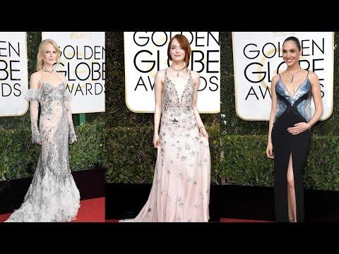 10 Best Dressed Celebrities on Golden Globes Red Carpet 2017 || Pastimers