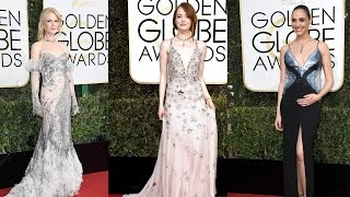 10 Best Dressed Celebrities on Golden Globes Red Carpet 2017 || Pastimers