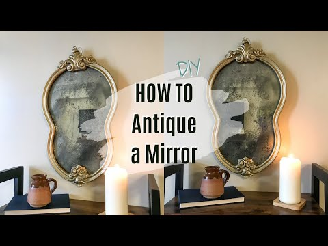 HOW TO ANTIQUE A MIRROR EASY! / THRIFT FLIP / VINTAGE DECOR