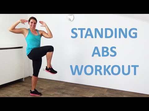 Standing Abs Workout – 10 Minute of Standing Abs Exercises for a Flat Belly