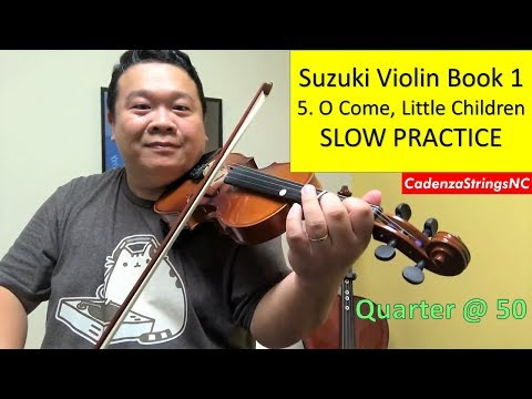 O Come, Little Children  | SLOW PRACTICE | METRONOME