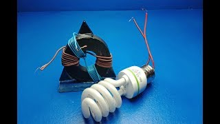 Electric Free Energy Light Bulb With Magnets - New technology idea Project