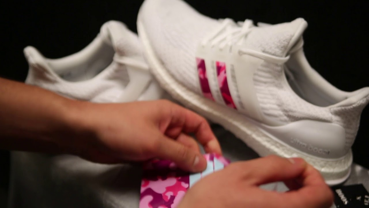 189cb7f0c60175 Boosted Stripes   Ultra Boost Install 60 Sec Tutorial - YouTube