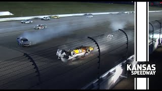 Big Wreck | Hard wreck for Ryan Preece following on-track block by Bell | NASCAR Cup Series