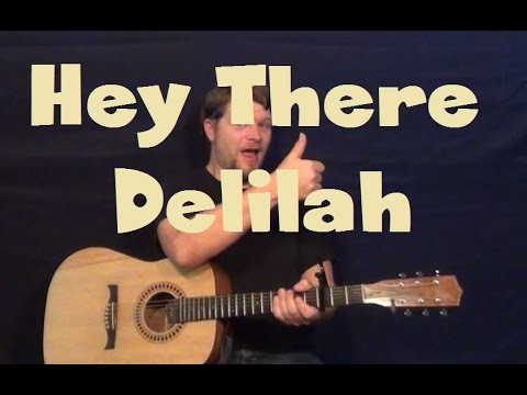 Hey There Delilah (Plain White T\'s) Easy Guitar Lesson Strum ...