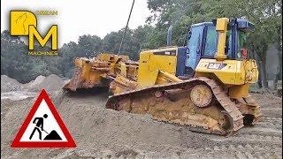 caterpillar d6n dozer schwertransport in action