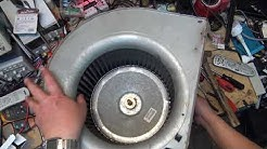 Carrier HVAC system blower fan repair